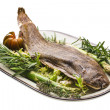 Stock Photo: Fish Dover sole roasted