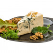 Mould cheese with salad, nuts and crisp — Stok fotoğraf