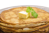 Russian pancakes — Stock Photo