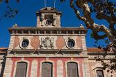 Barcelona - Parliament of autonomous Catalonia. Architecture landmark. — Stock Photo