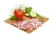 Bacon with vegetables — Stock Photo