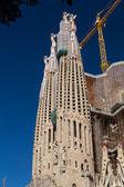 BARCELONA SPAIN - OCTOBER 28: La Sagrada Familia — Zdjęcie stockowe