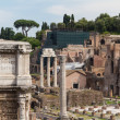 Building ruins and ancient columns in Rome, Italy — Stock Photo #29922583