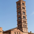 Постер, плакат: Bell tower of basilica dei Santi Giovanni e Paolo in Rome Italy