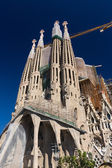 BARCELONA SPAIN - OCTOBER 28: La Sagrada Familia — Stock Photo