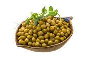 腌制绿豌豆 — 图库照片