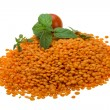Stock Photo: Red lentils