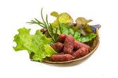 Salsichas de salame — Foto Stock
