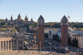 Venetianska towers i Barcelona (Spanien) — Stockfoto