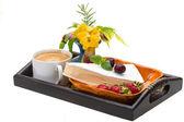 Breakfast wirh coffee and cheese — Stock Photo
