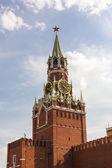 Torre spasskaya na praça vermelha — Fotografia Stock