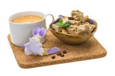Coffee with Sunflower Halva — Stock Photo