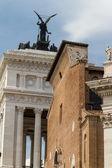 Campidoglio square (Piazza del Campidoglio) in Rome, Italy — Stock Photo