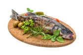 Roasted seabass — Stock Photo