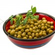 Marinated green peas — Stock Photo