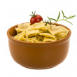 Stockfoto: Ravioli with herbs
