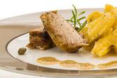 Schab z grilla z ziemniaków — Zdjęcie stockowe