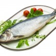 Stock Photo: Marinated herring with herbs