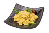 Ravioli with herbs — Stock Photo