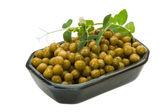 Marinated green peas — Stock Photo