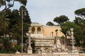 Sculpture and fountain of Piazza del Popolo — Stock Photo
