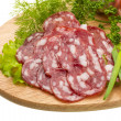 Stock Photo: Fresh ripe salami