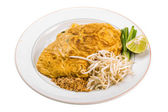 Thai omelette with shrimps — Stock Photo