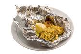 Baked catfish — Stock Photo