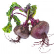 Raw beet with leaf — Stock Photo