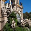 Barcelona ciudadela park lake fountain — Stock Photo