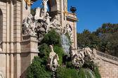 Barcelona ciudadela park lake fontein — Stockfoto