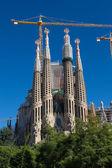 BARCELONA SPAIN - OCTOBER 28: La Sagrada Familia - the impressiv — Photo
