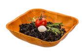 Black boiled rice — Stock Photo