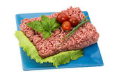 Stuffed raw meat with basil — Stock Photo