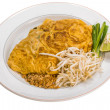 Stock Photo: Thai omelette with shrimps
