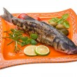Stock Photo: Roasted seabass