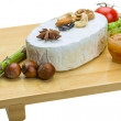 Stock Photo: Fresh soft brie cheese