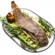 Fish Dover sole roasted — Stock Photo