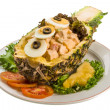 Pineapple and chiken salad — Stock Photo