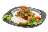 ハーブと豚肉米麺 — ストック写真
