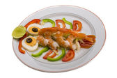 Shrimp cocktail — Stock Photo
