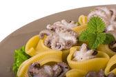 Lumaconi with octopus — Stock Photo