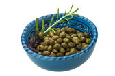 Capers in the bowl — Stock Photo