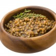 Stock Photo: Backed lentils