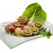 Stock Photo: Anchovy rolls