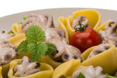 Lumaconi with octopus — Stock Photo