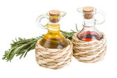 Vinegar, oil and rosemary — 图库照片