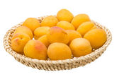 Yellow ripe apricots — Stock Photo