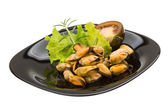 Marinated mussels — 图库照片