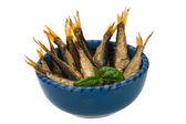 Sprat in the bowl — Stock Photo